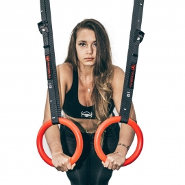 Gymnastic Rings with adjustable straps (ABS - 28mm) - IronBull Strength-7
