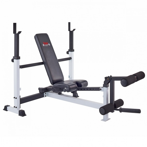 Adjustable Olympic Combo Bench w/ Leg Developer-1