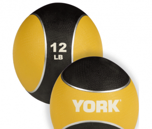 Med Ball rubber - York Medecinal ball: Rubber Med Ball 12lbs