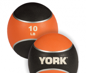 Med Ball rubber - York Medecinal ball: Rubber Med Ball 10lbs