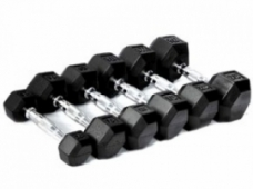 Dumbbells cast iron/rubber