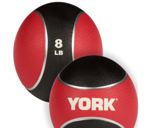 Med Ball rubber - York Medecinal ball: Rubber Med Ball 8lbs